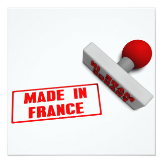 Made in France Stamp or Chop on Paper Concept Card
