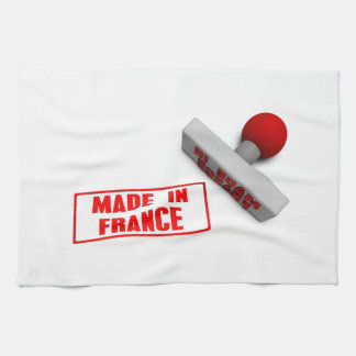 Made in France Stamp or Chop on Paper Concept Hand Towel