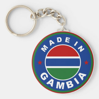 made in gambia country flag product label round basic round button keychain