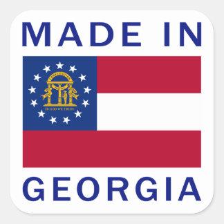 Made In Georgia Square Sticker