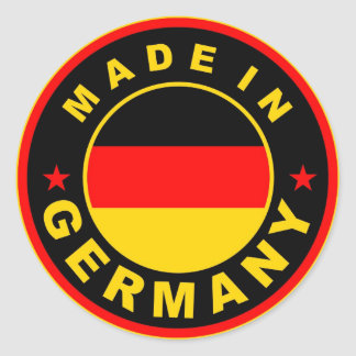 made in germany country flag label round stamp classic round sticker