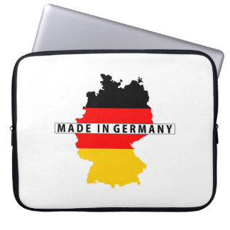 made in germany country map flag product label laptop sleeve