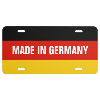 Made in Germany German flag license plate