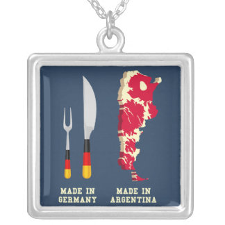 Made In Germany Square Pendant Necklace