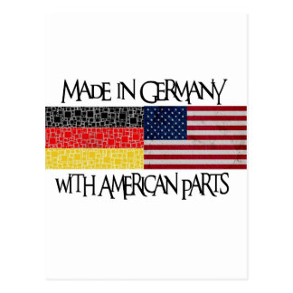 Made in Germany with american parts Post Cards