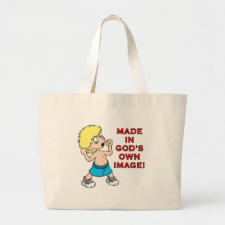 Made in God's Image Large Tote Bag