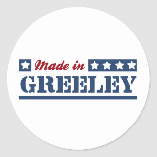 Made in Greeley Classic Round Sticker