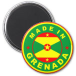 made in grenada country flag product label round refrigerator magnet