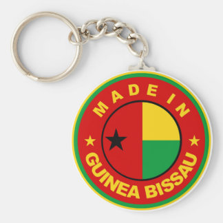 made in guinea bissau flag product label round basic round button keychain