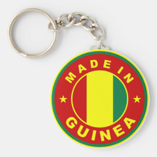 made in guinea country flag product label round basic round button keychain