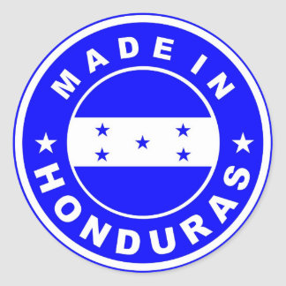 made in honduras country flag product label round
