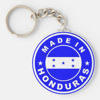 made in honduras country flag product label round basic round button keychain