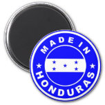 made in honduras country flag product label round fridge magnet