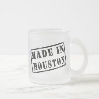 Made in Houston Frosted Glass Coffee Mug