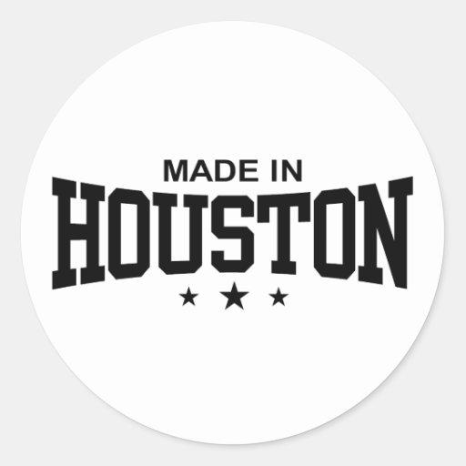 Made In Houston Round Sticker
