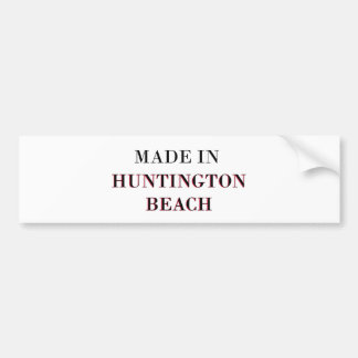 Made In Huntington Beach Bumper Sticker
