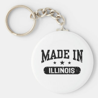 Made in Illinois Keychain