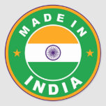 made in india country flag label round stamp classic round sticker