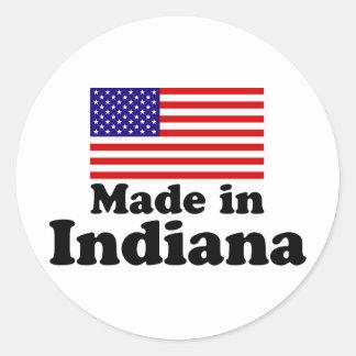 Made in Indiana Classic Round Sticker