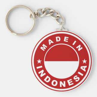 made in indonesia country flag product label round basic round button keychain