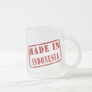 Made in Indonesia Frosted Glass Coffee Mug
