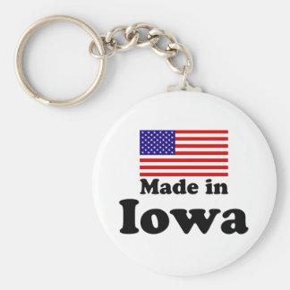 Made in Iowa Basic Round Button Keychain