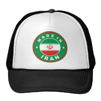 made in iran country flag label round stamp hats