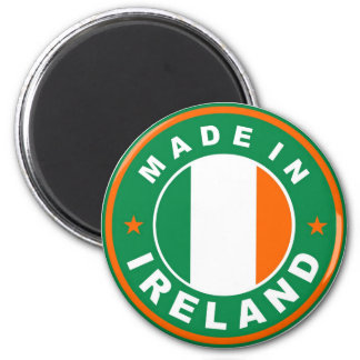 made in ireland country flag product label round 2 inch round magnet