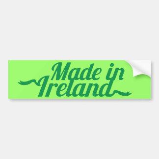 Made in Ireland St Patricks day design Bumper Sticker