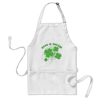 Made In Ireland with Shamrocks Products Adult Apron