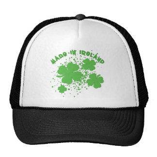 Made In Ireland with Shamrocks Products Hat