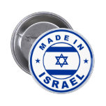 made in israel country flag label round stamp button
