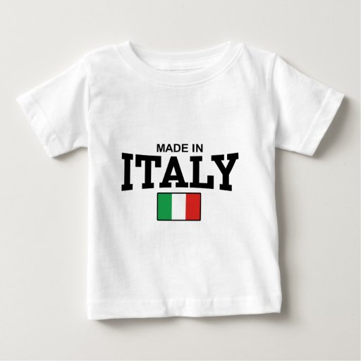 Made in italy baby t shirt zazzle for Shirts made in italy