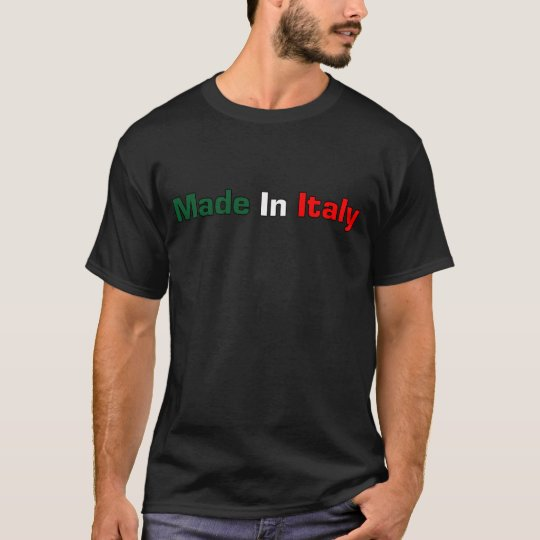 Made In Italy Black T- Shirt
