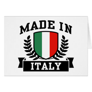 Made in Italy Card