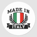 Made in Italy Classic Round Sticker