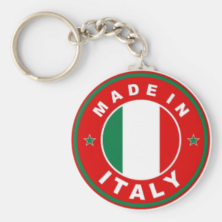 made in italy country flag product label round basic round button keychain