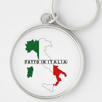 made in italy country map flag product label key chain