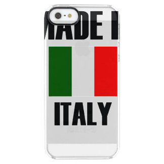 Made In Italy Flag Clear iPhone SE/5/5s Case