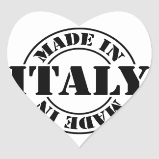 made in Italy Heart Sticker
