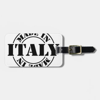 made in Italy Luggage Tag