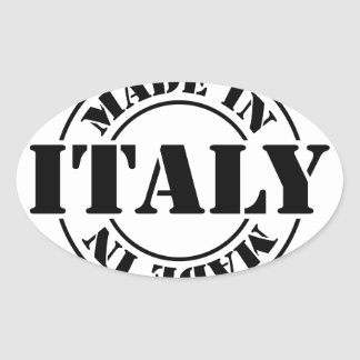 made in Italy Oval Sticker