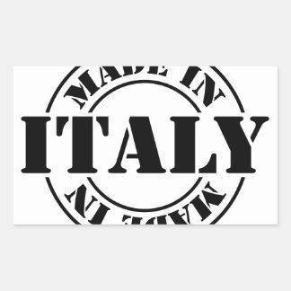 made in Italy Rectangular Sticker