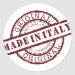 Made in Italy Round Stickers
