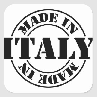 made in Italy Square Sticker