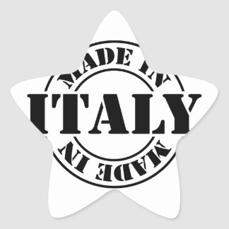 made in Italy Star Sticker