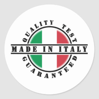 Made In Italy Stickers Round Sticker