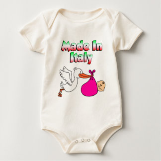 Made In Italy Stork Pink Baby Bodysuit