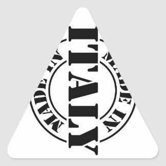 made in Italy Triangle Sticker