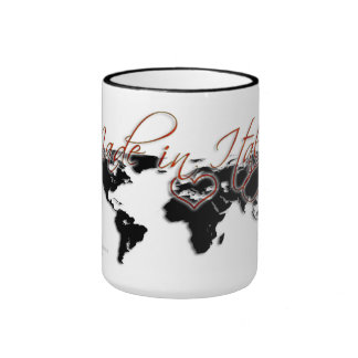 Made In Italy with Love Ringer Mug